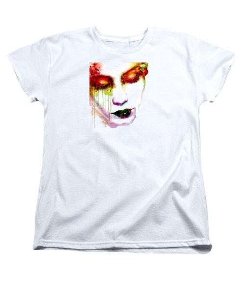 Melancholy In Watercolor Women's T-Shirt (Standard Cut) by Marian Voicu