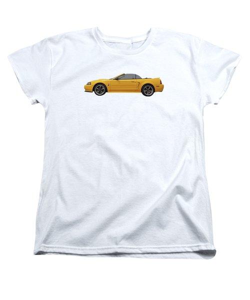 Mellow Yellow 1999 Mustang  Women's T-Shirt (Standard Cut) by Gill Billington