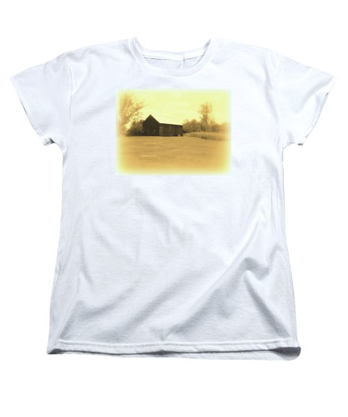 Memories Of Long Ago - Barn Women's T-Shirt (Standard Cut) by Susan Lafleur