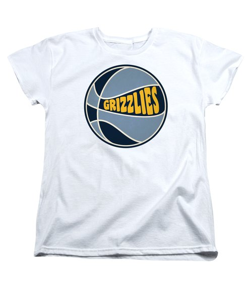 Memphis Grizzlies Retro Shirt Women's T-Shirt (Standard Cut) by Joe Hamilton