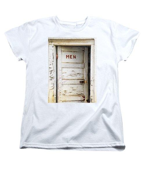 Men's Room Women's T-Shirt (Standard Cut) by Marilyn Hunt