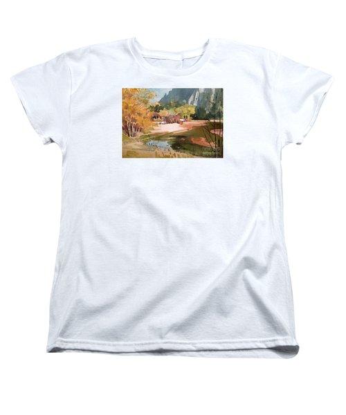 Merced River Encounter Women's T-Shirt (Standard Cut) by Donald Maier