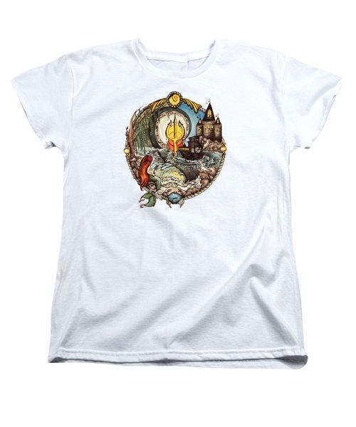 Mermaid Part Of Your World Women's T-Shirt (Standard Cut) by Cat Dolch