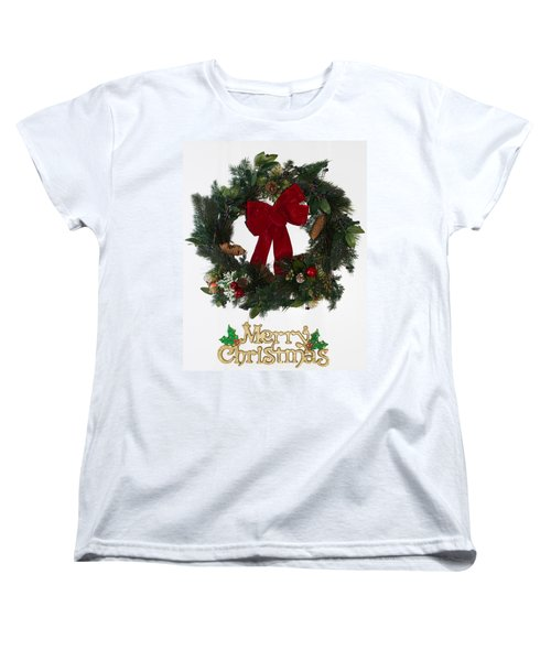 Merry Christmas Women's T-Shirt (Standard Cut) by Kenneth Cole