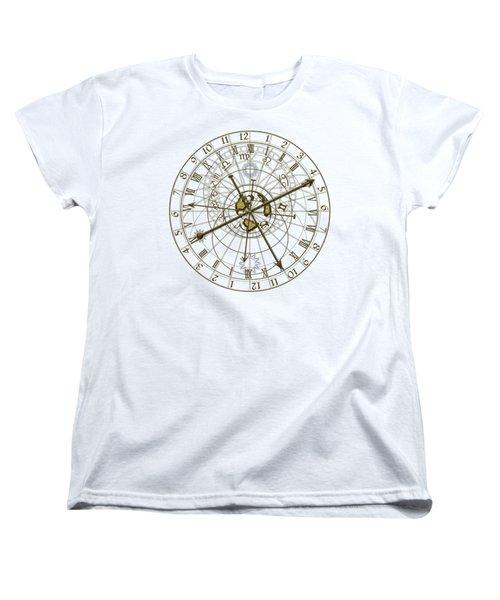 Metal Astronomical Clock Women's T-Shirt (Standard Cut) by Michal Boubin