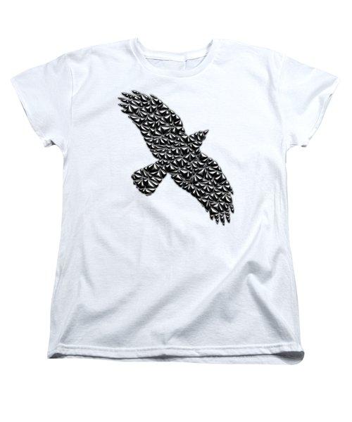 Metallic Crow Women's T-Shirt (Standard Cut) by Chris Butler