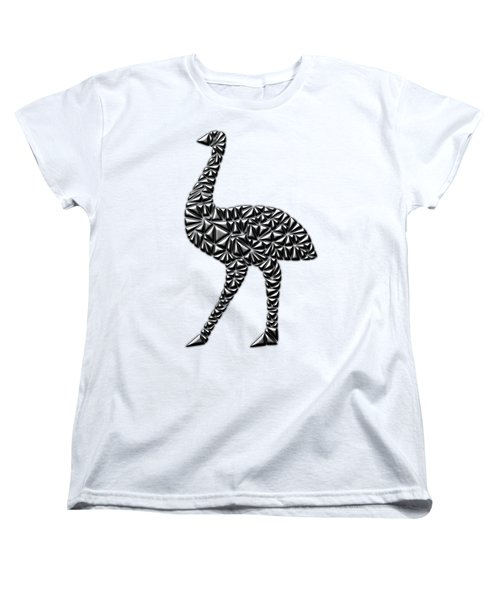 Metallic Emu Women's T-Shirt (Standard Cut) by Chris Butler