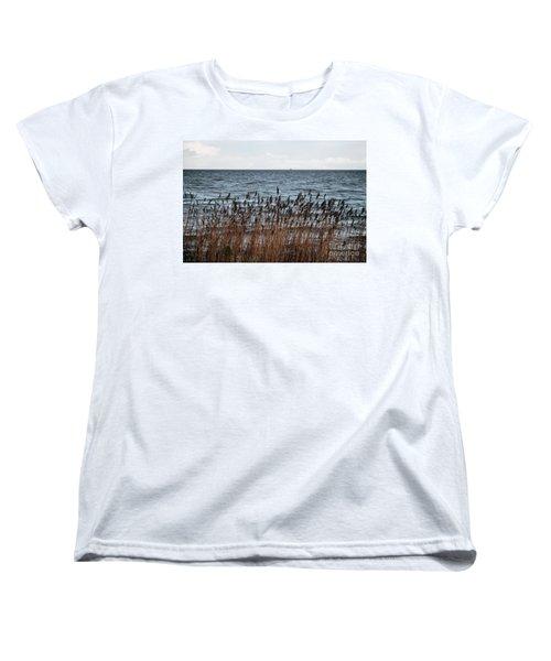 Metallic Sea Women's T-Shirt (Standard Cut) by Ana Mireles