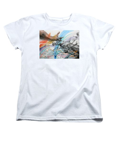 Women's T-Shirt (Standard Cut) featuring the painting Metamorphosis by J- J- Espinoza