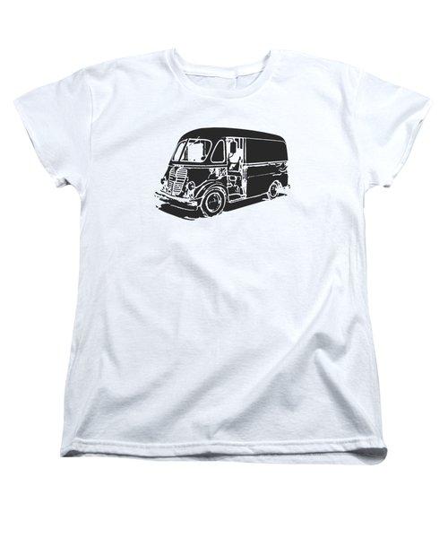 Metro Step Van Tee Women's T-Shirt (Standard Cut) by Edward Fielding