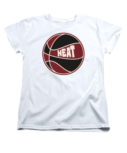 Miami Heat Retro Shirt Women's T-Shirt (Standard Cut) by Joe Hamilton