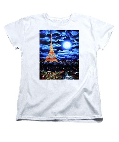 Midnight In Paris Women's T-Shirt (Standard Cut) by Laura Iverson