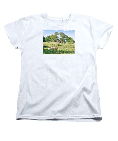 Midwest Cattle Ranch Women's T-Shirt (Standard Cut)