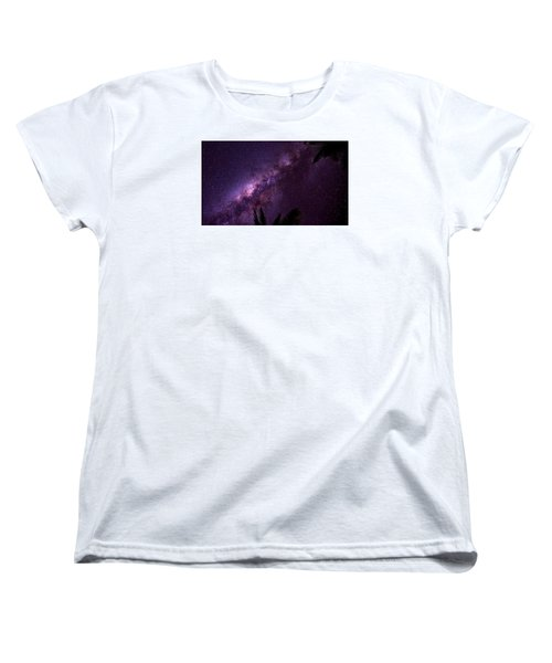 Women's T-Shirt (Standard Cut) featuring the photograph Milky Way Over Mission Beach Narrow by Avian Resources