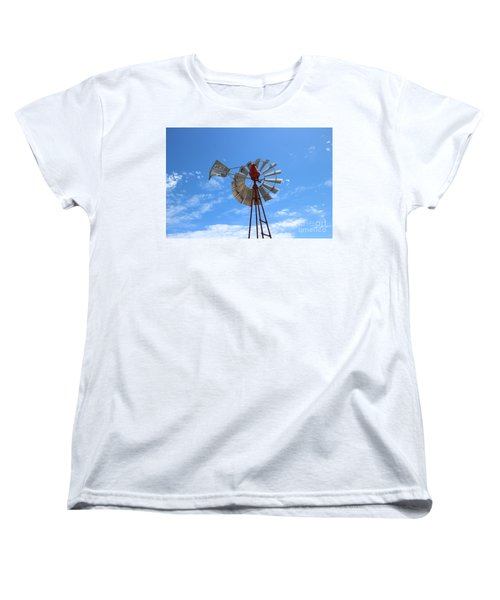 Women's T-Shirt (Standard Cut) featuring the photograph Milled Wind by Stephen Mitchell