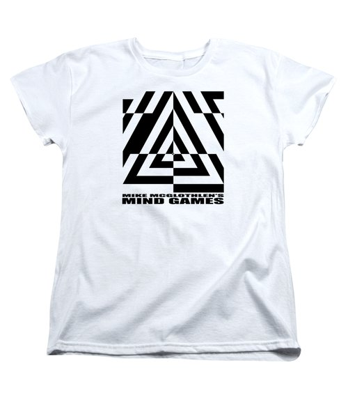 Women's T-Shirt (Standard Cut) featuring the drawing Mind Games  21se by Mike McGlothlen