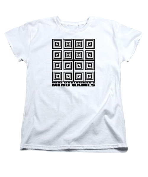 Women's T-Shirt (Standard Cut) featuring the drawing Mind Games 28se by Mike McGlothlen