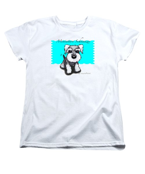 Miniature Schnauzer Women's T-Shirt (Standard Cut) by Catia Cho