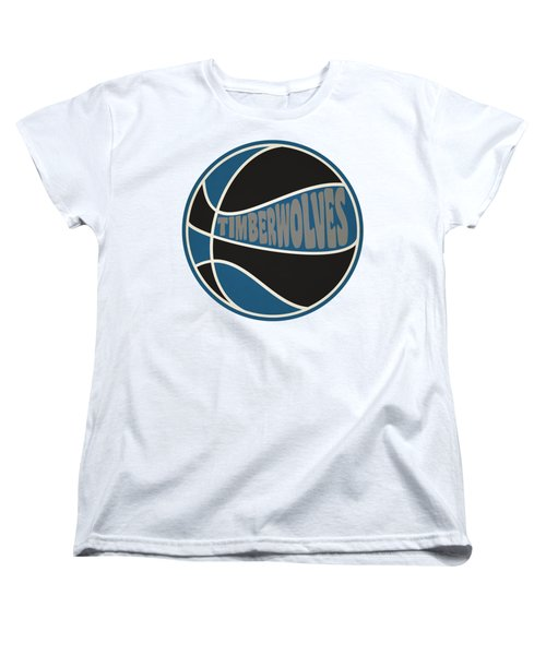 Women's T-Shirt (Standard Cut) featuring the photograph Minnesota Timberwolves Retro Shirt by Joe Hamilton