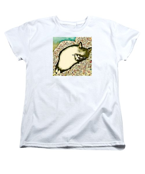 Women's T-Shirt (Standard Cut) featuring the photograph Minnie Siesta - Fashionable by Ronda Broatch