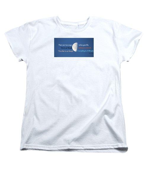 Miracles Women's T-Shirt (Standard Cut) by David Norman