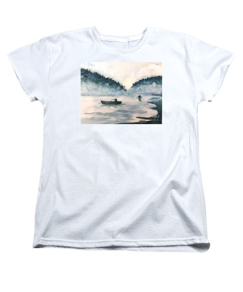 Misty Lake Women's T-Shirt (Standard Cut) by Lucia Grilletto