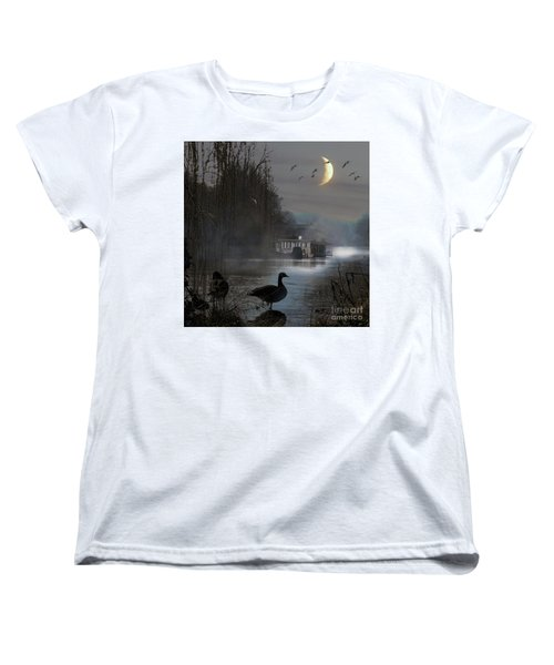 Misty Moonlight Women's T-Shirt (Standard Cut) by LemonArt Photography
