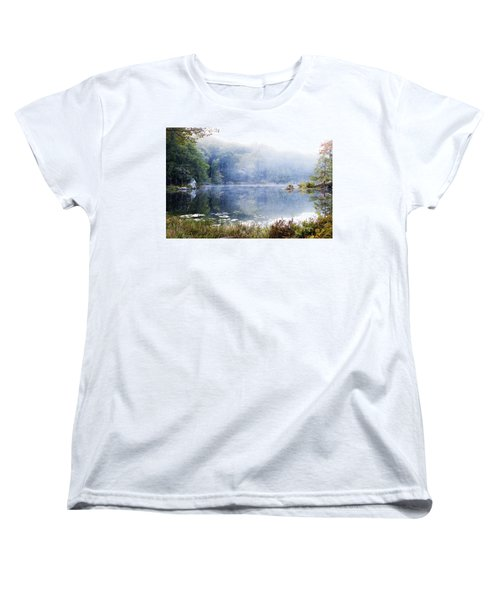 Misty Morning At John Burroughs #1 Women's T-Shirt (Standard Cut) by Jeff Severson