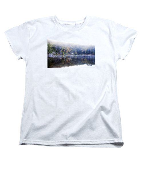 Misty Morning At John Burroughs #2 Women's T-Shirt (Standard Cut) by Jeff Severson