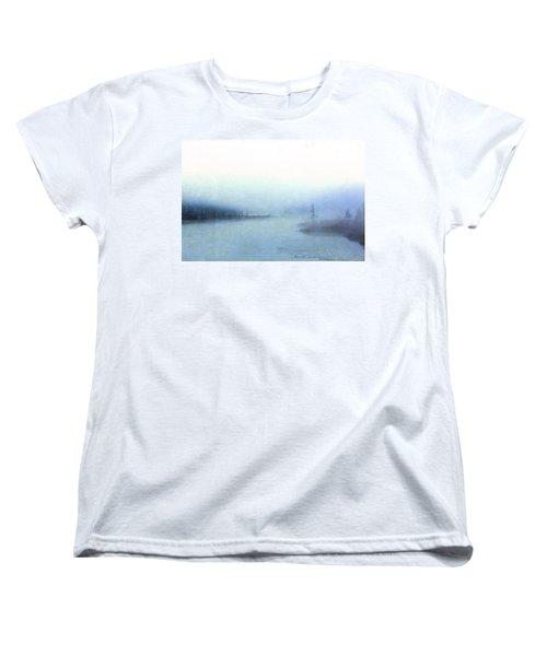 Misty Morning Women's T-Shirt (Standard Cut) by Catherine Alfidi