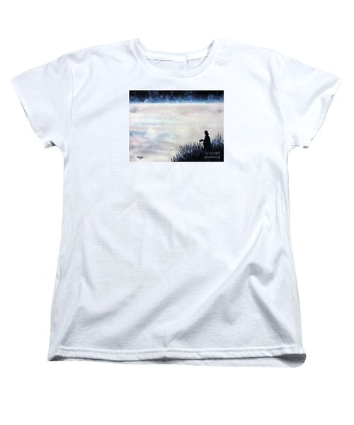 Misty Morning Photographer Women's T-Shirt (Standard Cut) by Tom Riggs