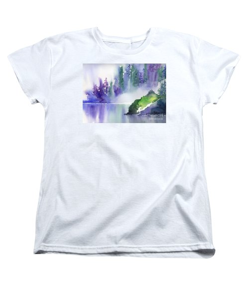 Misty Summer Women's T-Shirt (Standard Cut) by Yolanda Koh