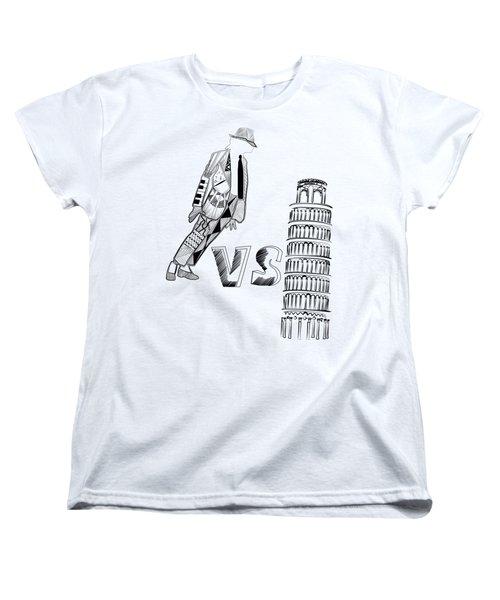 Mj Vs Pisa Women's T-Shirt (Standard Cut) by Serkes Panda