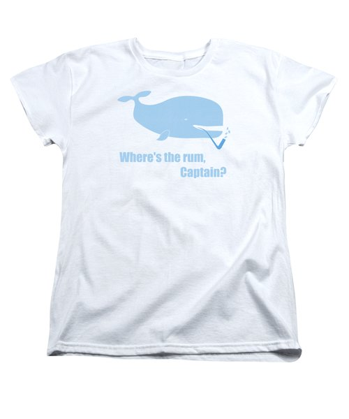 Women's T-Shirt (Standard Cut) featuring the painting Moby Dick Or The Whale by Frank Tschakert