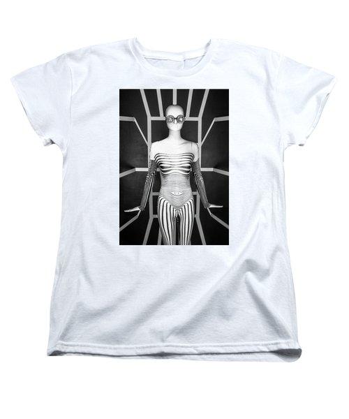 Modern Black And White Women's T-Shirt (Standard Cut) by Scott Meyer