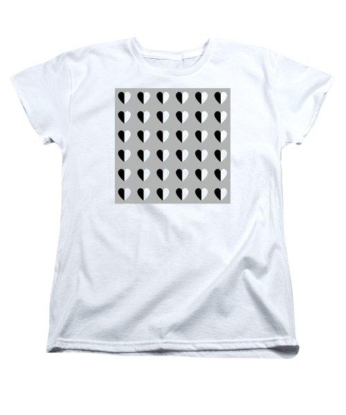 Modern Hearts- Art By Linda Woods Women's T-Shirt (Standard Cut) by Linda Woods