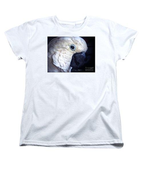 Moluccan Cockatoo Women's T-Shirt (Standard Cut) by Melissa Messick