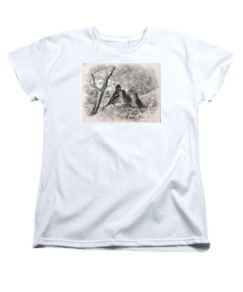 Mom, I Am Hungry Women's T-Shirt (Standard Cut) by Debby Pueschel