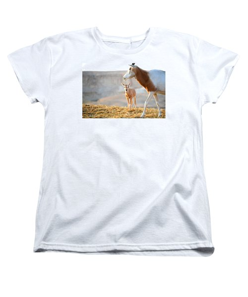 Women's T-Shirt (Standard Cut) featuring the photograph Mom's Supervision by Arik Baltinester