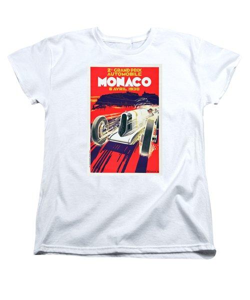 Monaco Grand Prix 1930 Women's T-Shirt (Standard Cut) by Taylan Apukovska