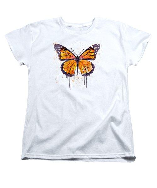Monarch Butterfly Watercolor Women's T-Shirt (Standard Fit)