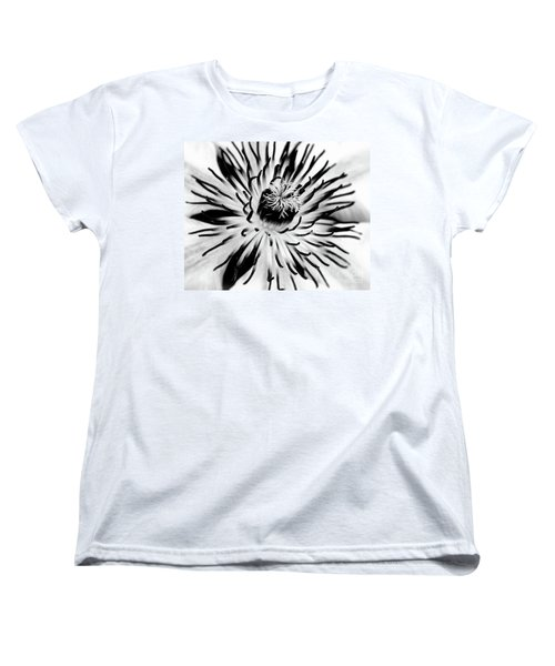 Women's T-Shirt (Standard Cut) featuring the photograph Mono Clematis by Baggieoldboy