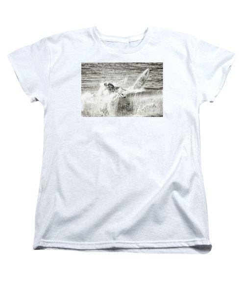 Monochrome Wipeout Women's T-Shirt (Standard Cut) by Nicholas Burningham