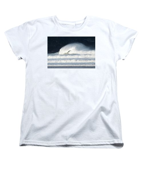 Women's T-Shirt (Standard Cut) featuring the photograph Monster Wave by Nicholas Burningham