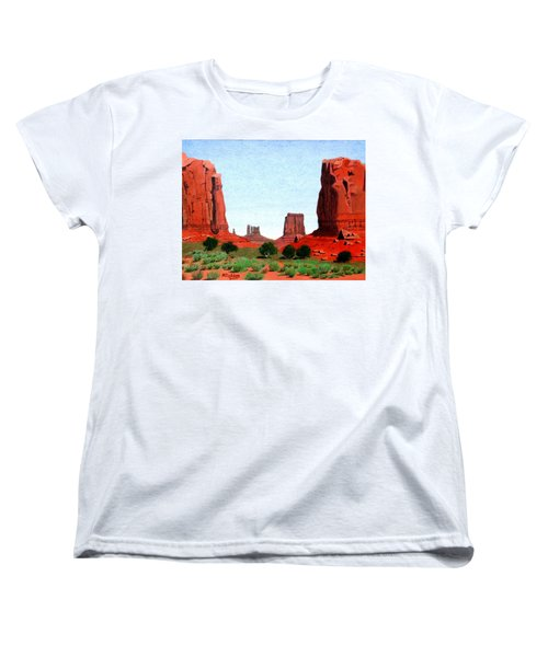 Monument Valley North Window Women's T-Shirt (Standard Cut) by Mike Robles