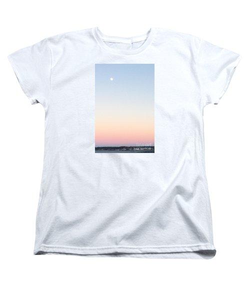 Moon In Twilight Sky Women's T-Shirt (Standard Cut)