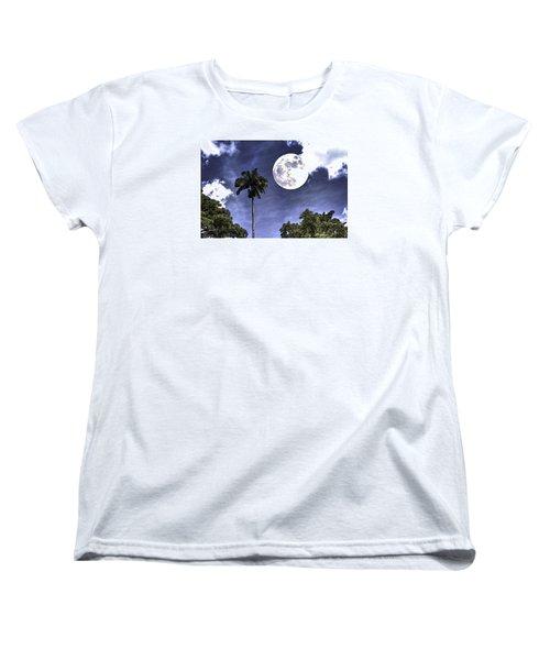 Moon Over Belize Two Women's T-Shirt (Standard Cut)