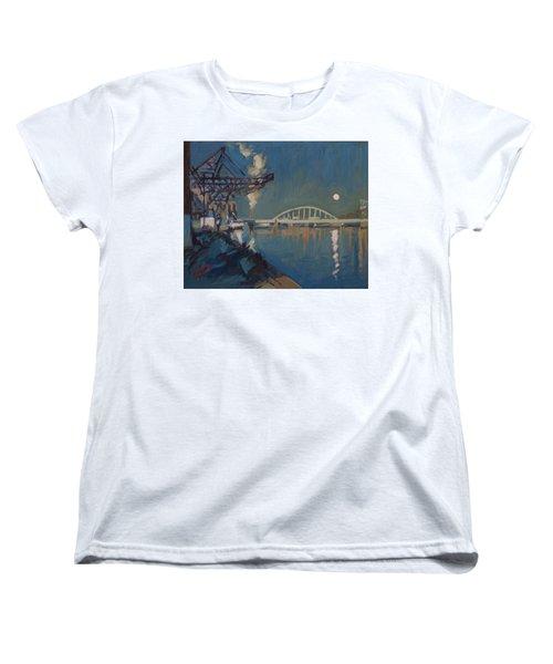Moon Over The Railway Bridge Maastricht Women's T-Shirt (Standard Fit)
