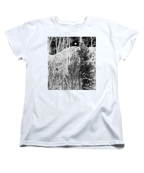 Women's T-Shirt (Standard Cut) featuring the digital art Moonrise Over The Mountain by Will Borden