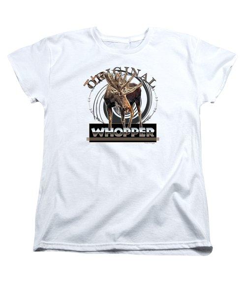 Moose Whooper Women's T-Shirt (Standard Cut) by Susan Kinney
